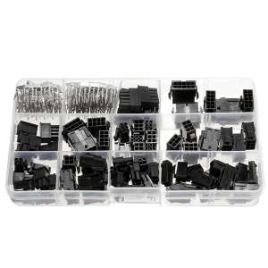 82 Pcs 3.0mm Connectors + 200 Pcs Crimp Pins Electronic Components Kit With Case