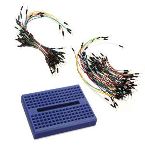SYB-170 Blue Mini Solderless Prototype Breadboard With 140Pcs Jump Wire For Arduino Shield