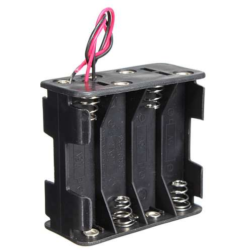 12V 8 x AA Battery Clip Slot Holder Stack Box Case 6 Inch Leads Wire preview image 1