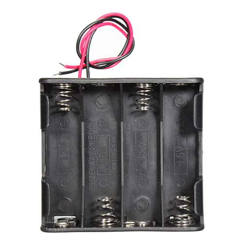 12V 8 x AA Battery Clip Slot Holder Stack Box Case 6 Inch Leads Wire preview image 2