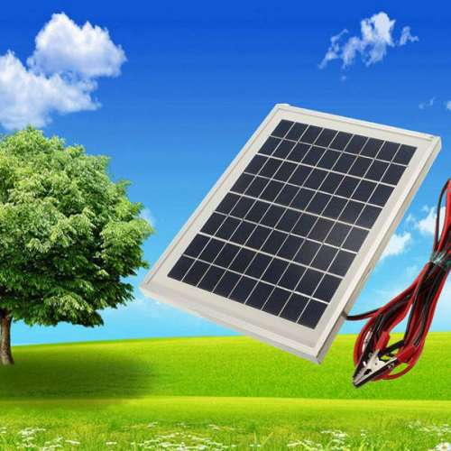 12V 5W 25.5 x 19 x 1.5CM PolyCrystalline Cells Solar Panel With Alligator Clip Wire preview image 1