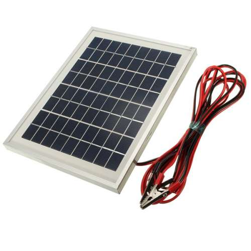 12V 5W 25.5 x 19 x 1.5CM PolyCrystalline Cells Solar Panel With Alligator Clip Wire preview image 2