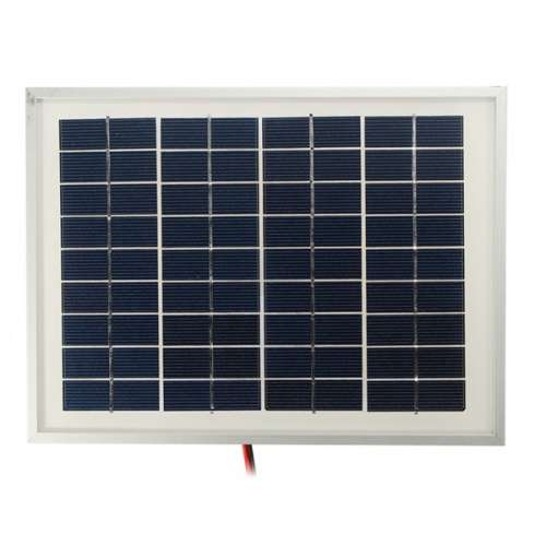 12V 5W 25.5 x 19 x 1.5CM PolyCrystalline Cells Solar Panel With Alligator Clip Wire preview image 3