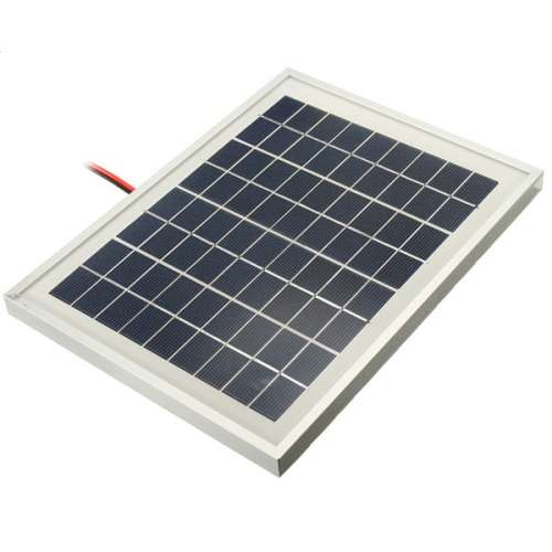 12V 5W 25.5 x 19 x 1.5CM PolyCrystalline Cells Solar Panel With Alligator Clip Wire preview image 4