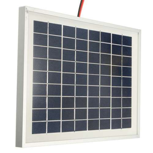 12V 5W 25.5 x 19 x 1.5CM PolyCrystalline Cells Solar Panel With Alligator Clip Wire preview image 5
