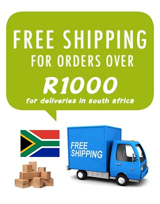 Free shipping for orders above R1000