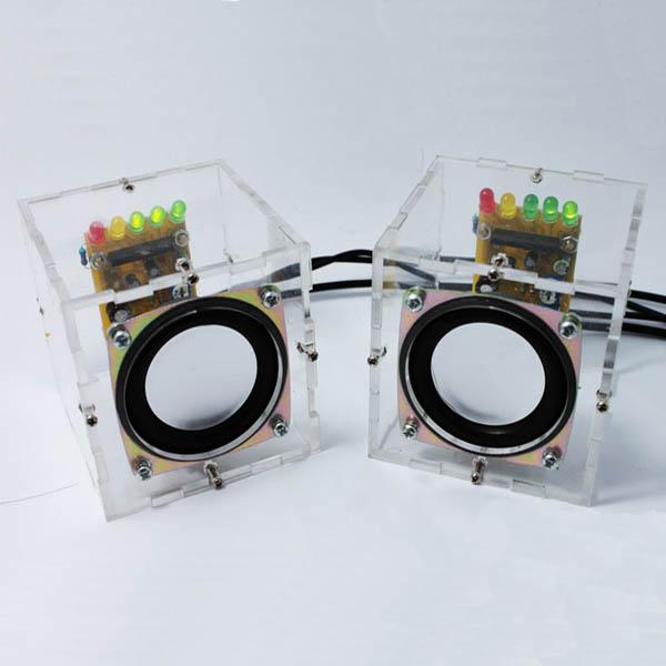 Geekcreit® DIY Transparent Mini Amplifier Speaker Kit 65x65x70mm 3W Per  Channel